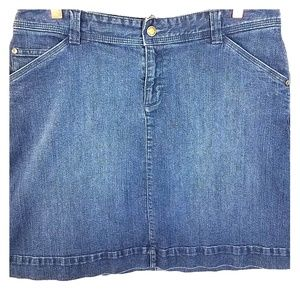 WOOLRICH Dark Wash Blue Jean A-Line Skirt SZ 13